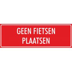 'Geen fietsen plaatsen' stickers (rood)