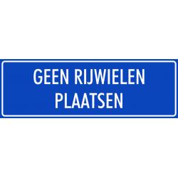 'Geen rijwielen plaatsen' stickers (blauw)