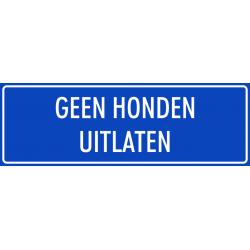 'Geen honden uitlaten' stickers (blauw)