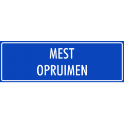 'Mest opruimen' stickers (blauw)