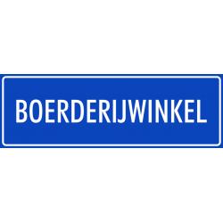 'Boerderijwinkel' stickers (blauw)