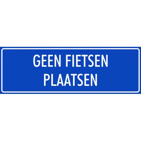 verboden rijwielen plaatsen