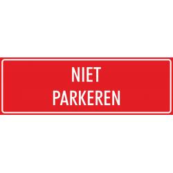 'Niet parkeren' stickers (rood)