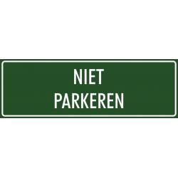 'Niet parkeren' stickers (groen)