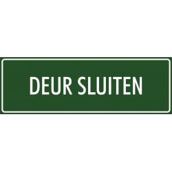 'Deur sluiten' stickers (groen)