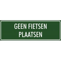 'Geen fietsen plaatsen' stickers (groen)