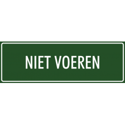 'Niet voeren' stickers (groen)