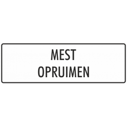 'Mest opruimen' stickers (wit)