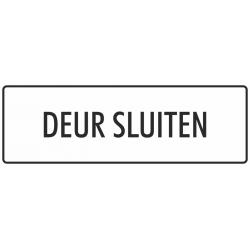 'Deur sluiten' stickers (wit)