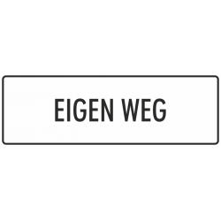 'Eigen weg' stickers (wit)
