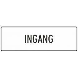 'Ingang' stickers (wit)