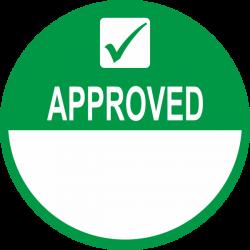 Approved keuringsstickers beschrijfbaar