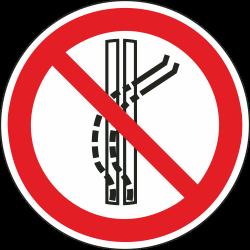 Het sleepspoor niet verlaten stickers