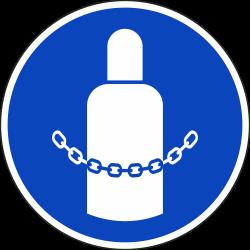 Gasflessen vastmaken stickers