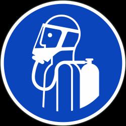 Gebruik autonoom ademhalingstoestel stickers