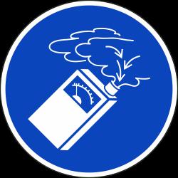 Gebruik de gasdetector stickers