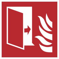 Brandwerende deur stickers