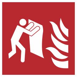 Branddeken stickers