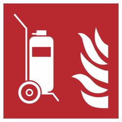 Mobiele brandblusser bordjes