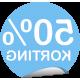 kortingsstickers rond (blauw)