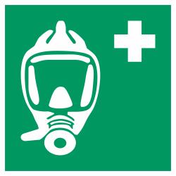 Ademhalingsapparaat voor noodevacuatie bordjes