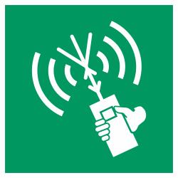 Draagbare meldingsradio bordjes