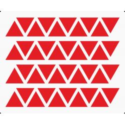 Markeringsstickers driehoek 15 mm op vel (40 stuks)