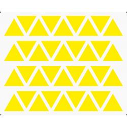 Markeringsstickers driehoek 20 mm op vel (36 stuks)