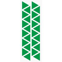 Markeringsstickers driehoek 25 mm op vel (24 stuks)