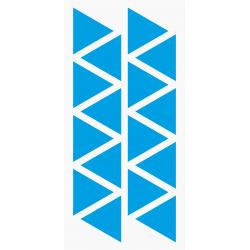 Markeringsstickers driehoek 30 mm op vel (16 stuks)