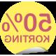 kortingsstickers rond (geel)