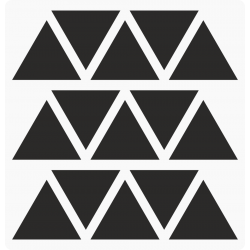 Markeringsstickers driehoek 35 mm op vel (15 stuks)