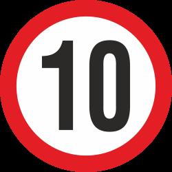 snelheidssticker 10 km (rood)