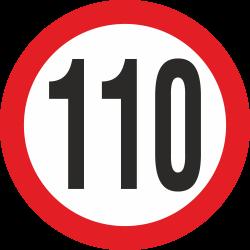 snelheidssticker 110 km (rood)