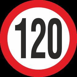 snelheidssticker 120 km (rood)