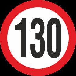 snelheidssticker 130 km (rood)
