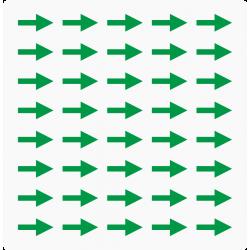 Markeringsstickers pijl 15 mm lang op vel (40 stuks)