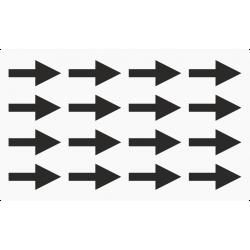 Markeringsstickers pijl 30 mm lang op vel (16 stuks)