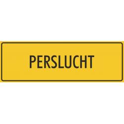 Perslucht stickers (geel)