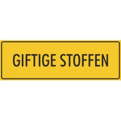Giftige stoffen stickers (geel)