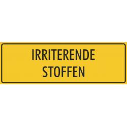 'Irriterende stoffen' bordjes (geel)