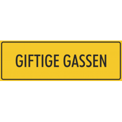 'Giftige gassen' bordjes (geel)