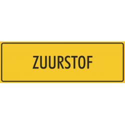 'Zuurstof' bordjes (geel)