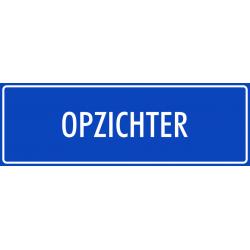 'Opzichter' stickers (blauw)