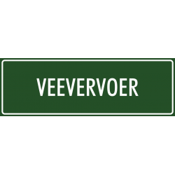 'Veevervoer' stickers (groen)