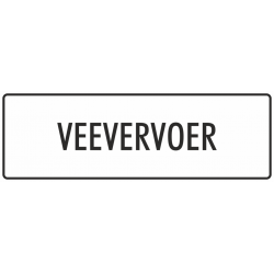 'Veevervoer' stickers (wit)
