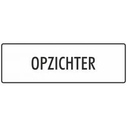 'Opzichter' stickers (wit)