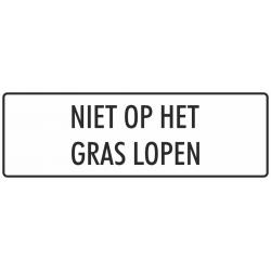 'Niet op het gras lopen' stickers (wit)