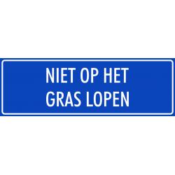 'Niet op het gras lopen' stickers (blauw)