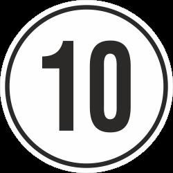 snelheidssticker 10 km (wit)
